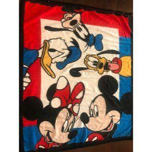 Vintage Disney Acrylic Thermal Blanket Sleep Sac Mickey Pluto Minnie